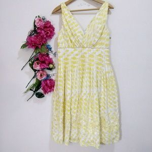 Suzi Chin maggy boutique yellow empire dress